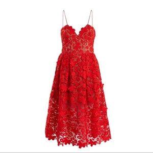 f230a9b568c0b Self-Portrait Dresses   Selfportrait Red 3d Lace Midi Dress   Poshmark